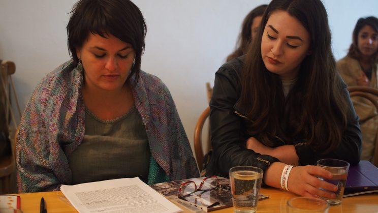 Mariana Hristova and Rhiannon Wain